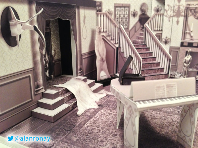 A Papercraft Model Of The Interior Of The Addams Family