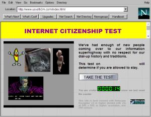 Internet Citizenship Test