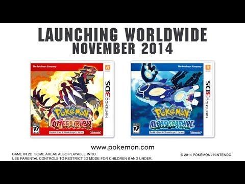 Nintendo Announces 'Pokémon Omega Ruby' and 'Pokémon Alpha Sapphire' Video Games for the Nintendo 3DS