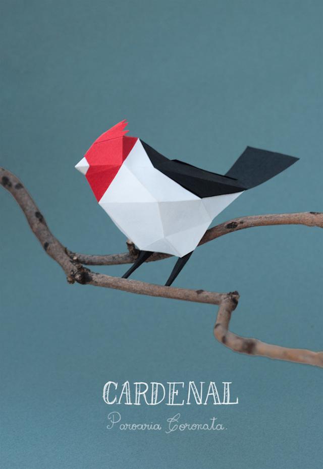 Delightful Geometric Paper Animal Sculptures