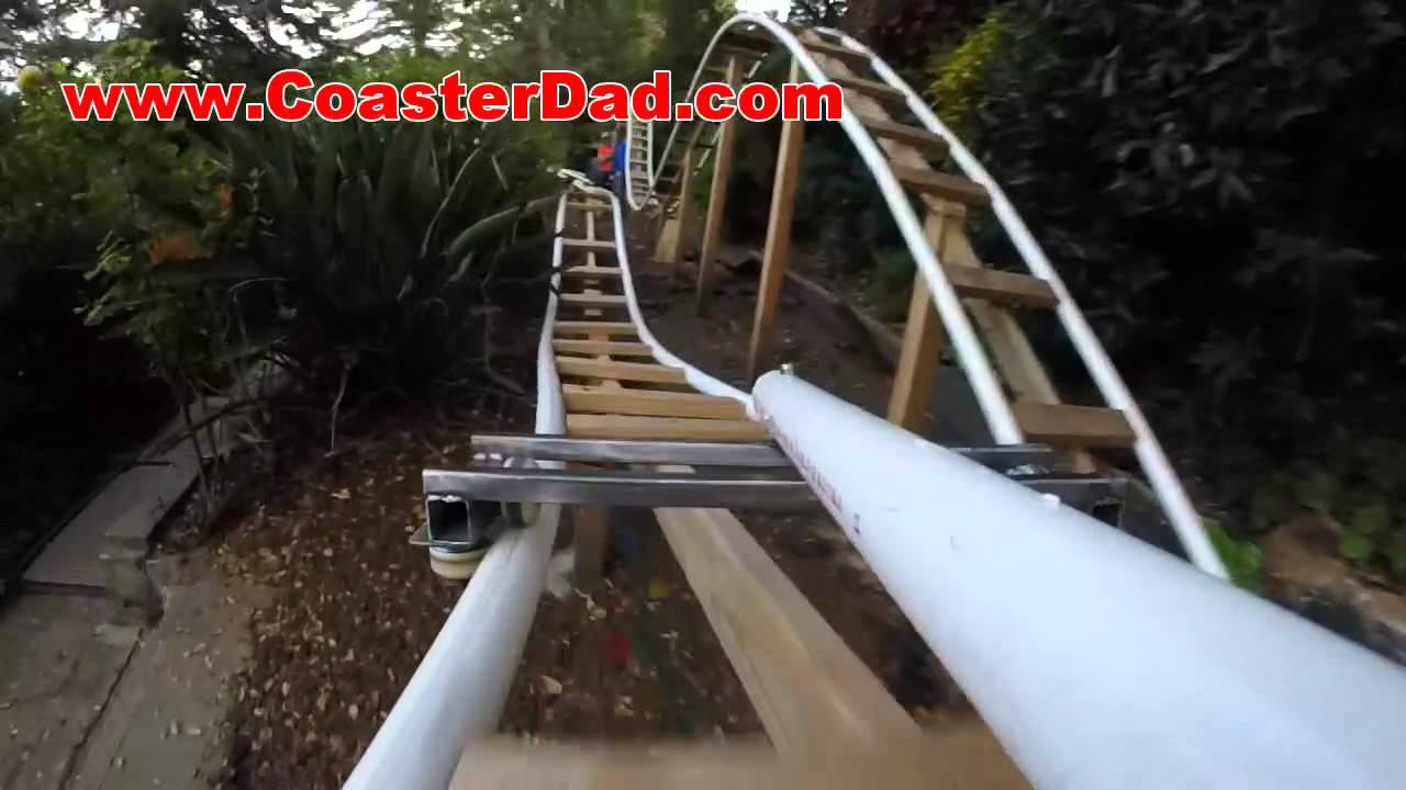 the coasterdad project a backyard roller coaster built by a father