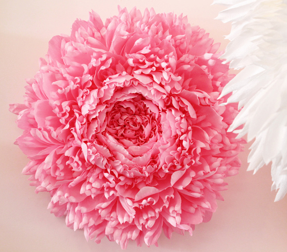 Giant Papercraft Flower Blossom Sculptures by Tiffanie Turner