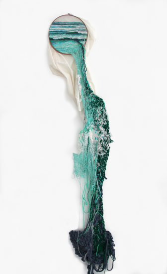 Suspension Landscape Embroideries by Ana Teresa Barboza