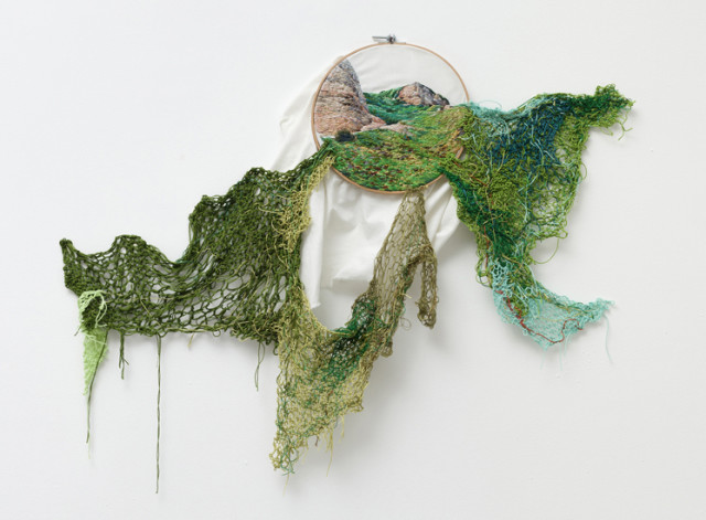 Suspensión, A Series of Landscape Embroideries That Spill Out of the Frame by Ana Teresa Barboza