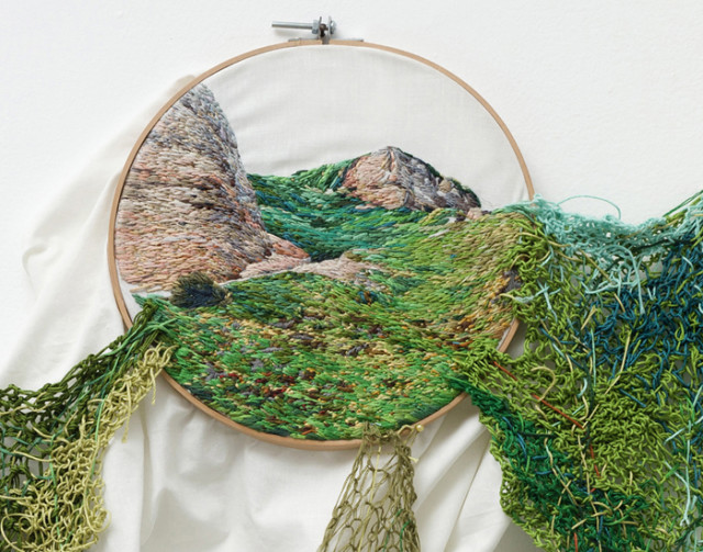 Suspension Landscape Embroideries by Ana Teresa Barboza