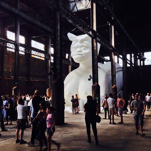 A Subtlety Sugar Sphinx by Kara Walker