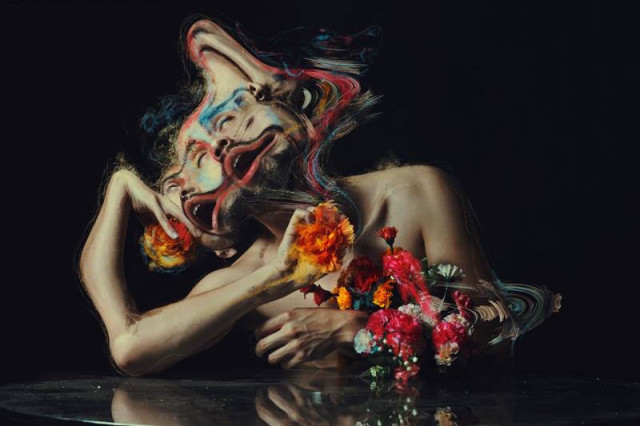 Digitally Distorted Photographic Portraits by Jon Jacobsen