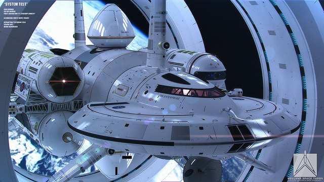 An Incredible Design Concept for a Warp Drive Spacecraft by NASA Physicist Harold White and Artist Mark Rademaker