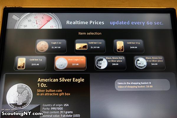Gold Dispensing Machine in Manhattan
