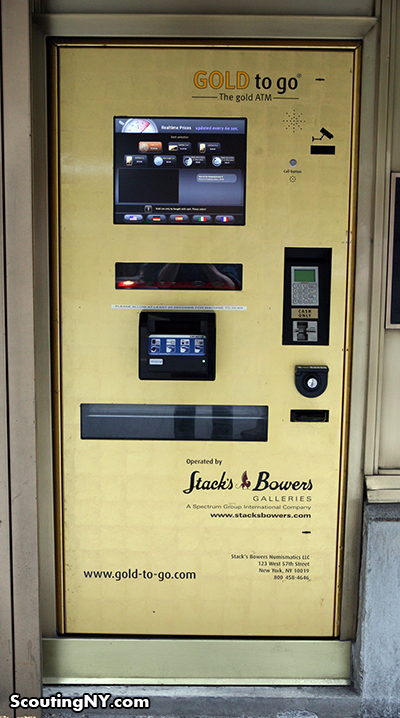 Gold Dispensing Machine in Manhattan