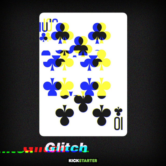 Glitch Playing Cards, A Visually Striking Glitchy Deck of Cards