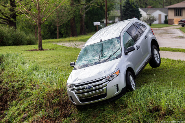 Astonishing Photos of Hail Damage in Blair, Nebraska by Mike Hollingshead