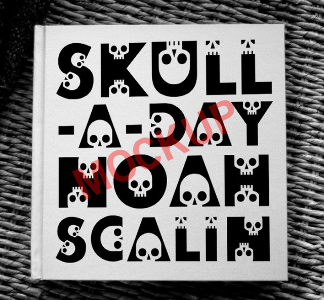 Skull-A-Day Book by Noah Scalin