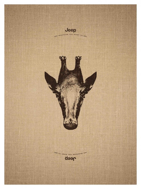 Trick Animal Illustration Ad Campaign for Jeep