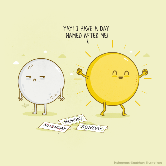Artist Nabhan Abdullatif Illustrates Clever Visual Puns Using