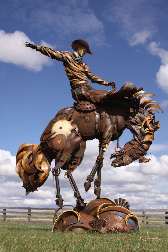 Scrap Metal Animal Sculptures by John Lopez