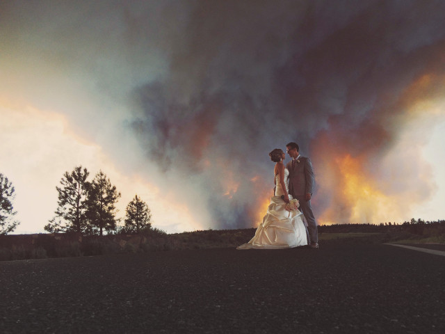 Wildfire Wedding Photos