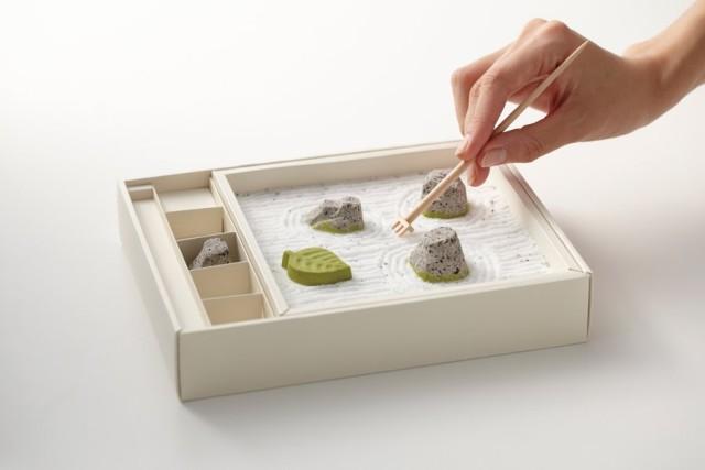 A Miniature Japanese Rock Garden Made of Candy