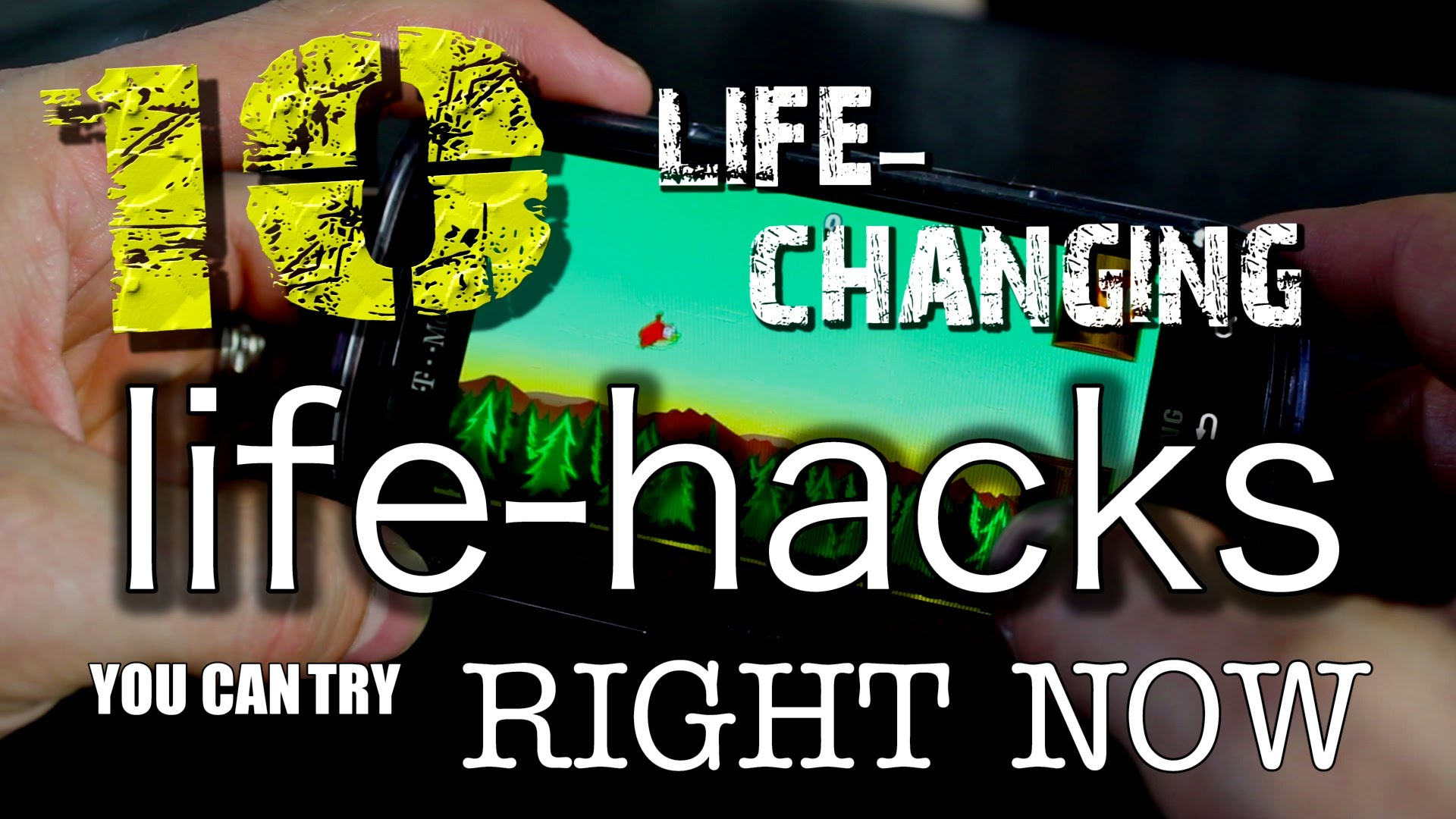 A Compilation Video of Ten Life-Changing Life Hacks