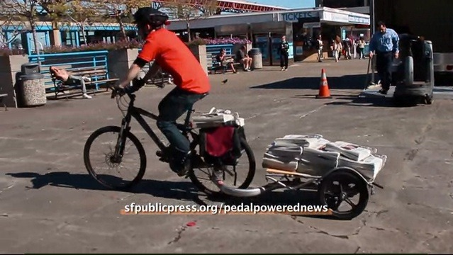 Bicycle Delivery Service for the San Francisco Public Press
