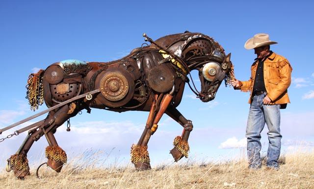 Wonderfully Lively Scrap Metal Animal Sculptures by John Lopez