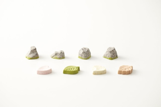 A Miniature Japanese Rock Garden Made of Candy