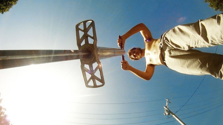 GoPro Video of Extreme Pogo Jumps, Flips, and Spills