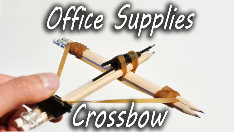 how to make a crossbow out of office supplies. Black Bedroom Furniture Sets. Home Design Ideas