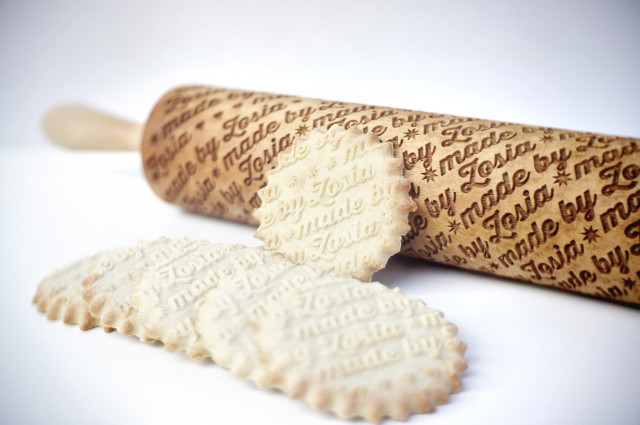 Custom Engraved Rolling Pins That Imprint Designs into Dough