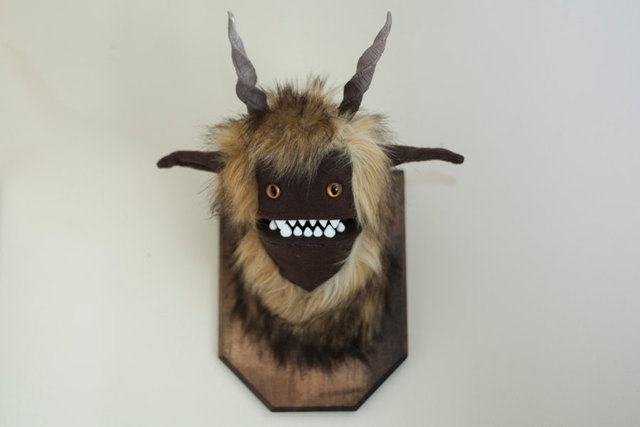 Cute And Creepy Mounted Stuffed Monster Heads