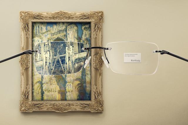 Impressionist Painting Eyeglass Ad