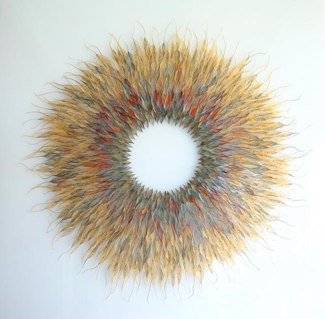 Incredibly Delicate Nature Sculptures Made Out of Translucent Woven Metal