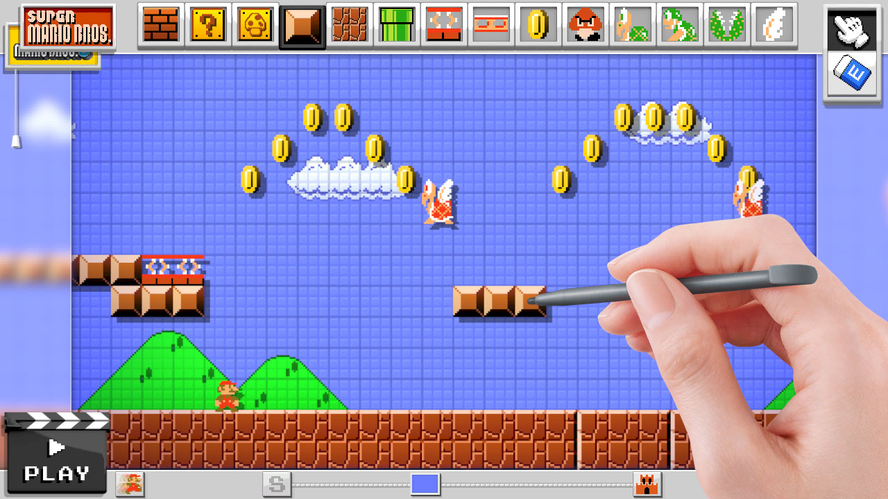 Mario Maker A Video Game Featuring The Ability To Create Design - 2d game design