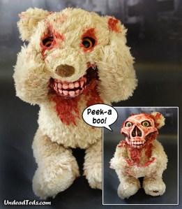 UndeadTeds Animatronic Peek-a-Boo Zombie Teddy