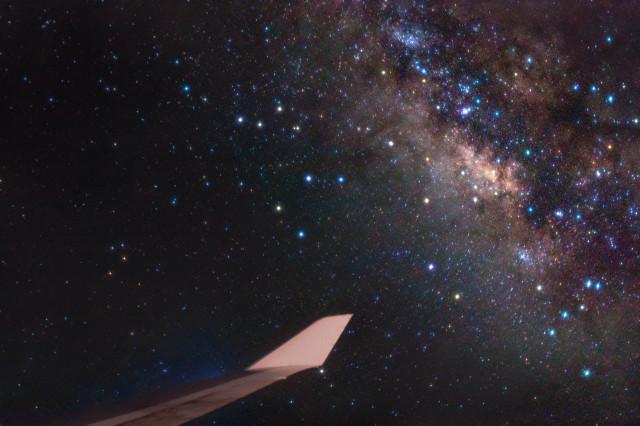 New York to London Milky Way