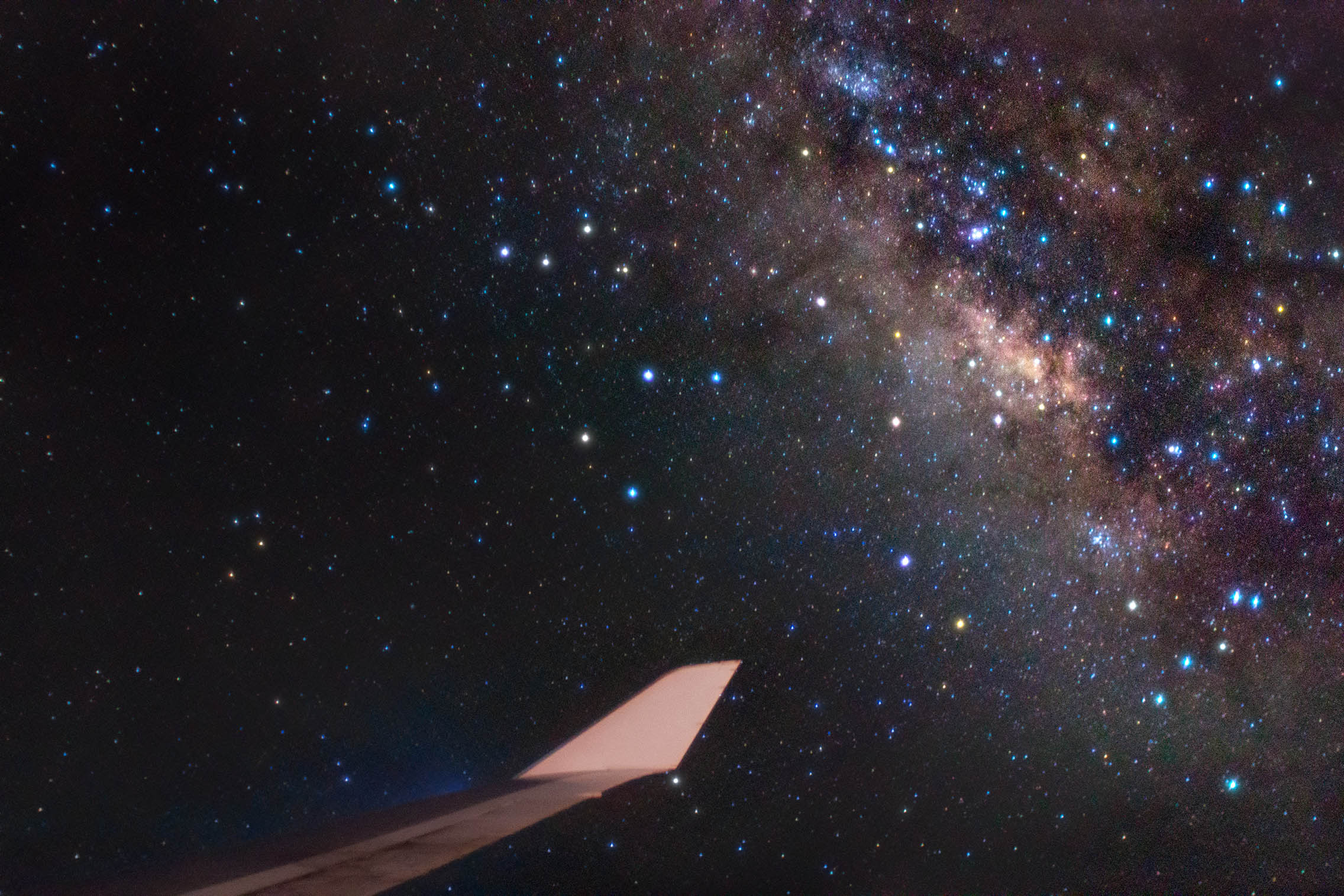 An Incredible Photo Of The Milky Way From A Window Seat On A
