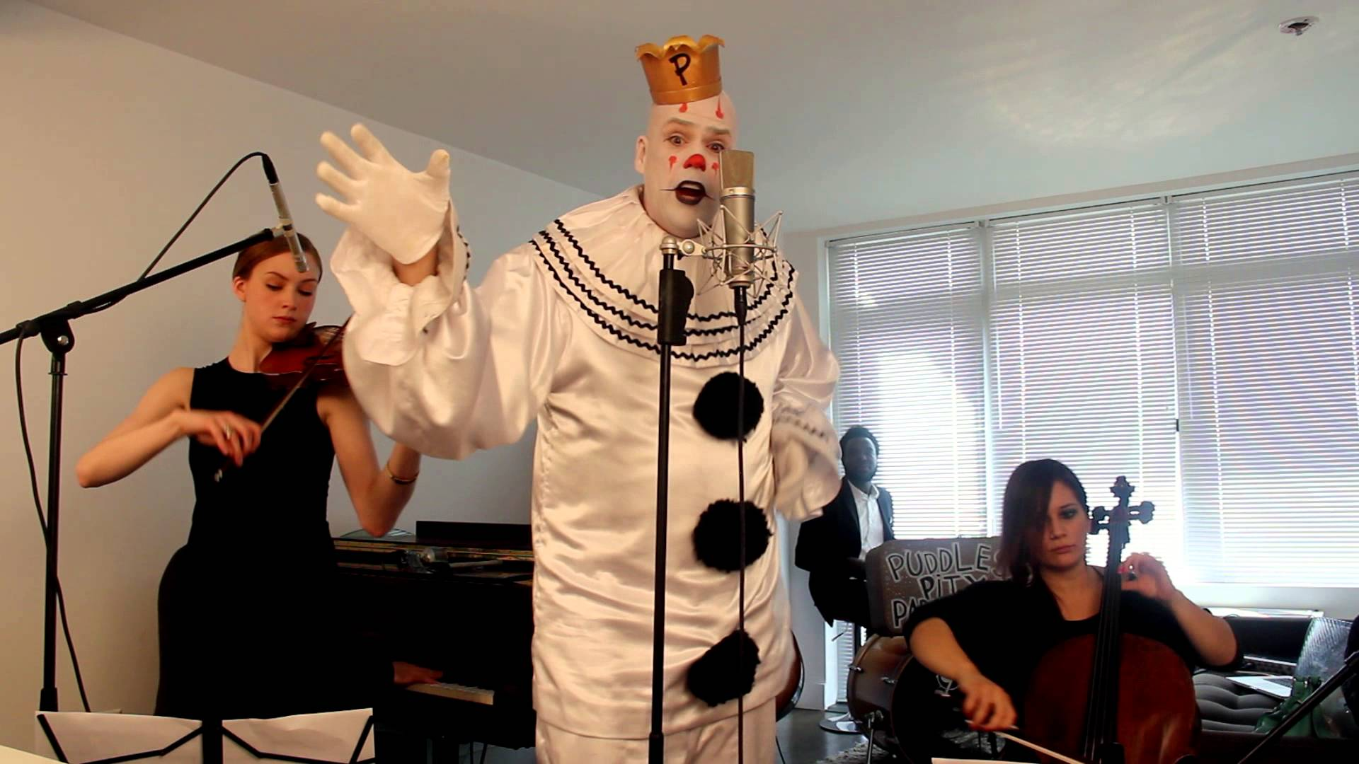 Puddles the sad clown and postmodern jukebox perform the song puddles the sad clown and postmodern jukebox perform the song chandelier by sia arubaitofo Image collections
