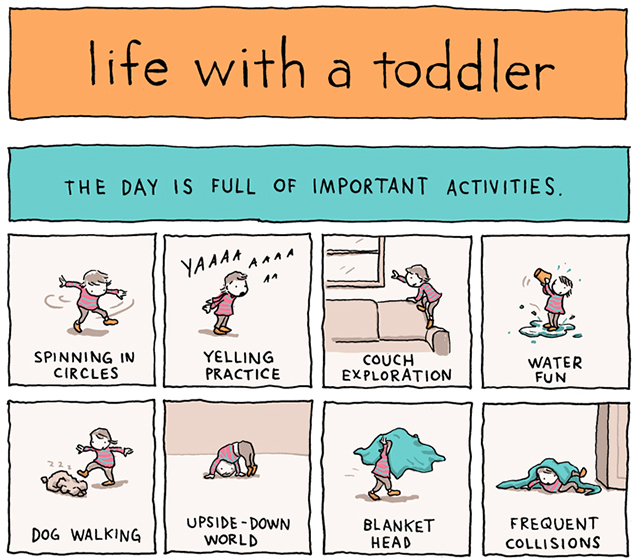 Life with a Toddler, A Comic About the Beautiful Chaos of Having an 18-Month-Old by Incidental Comics