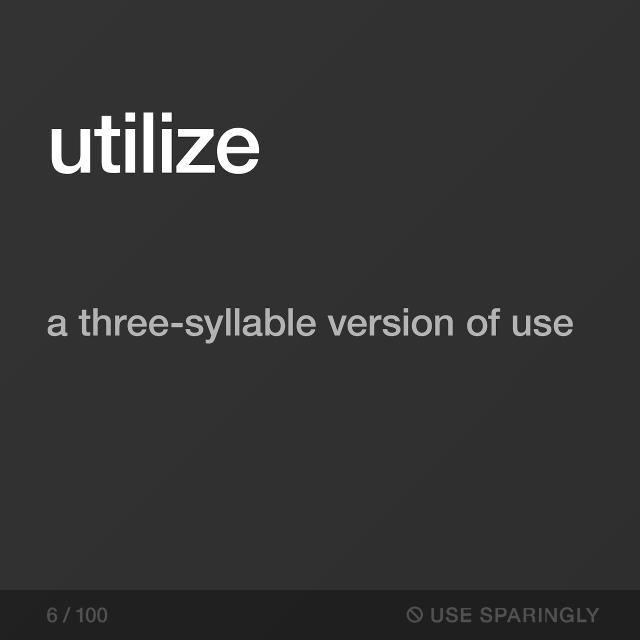 Use Sparingly