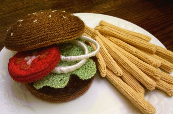 Yarn Food Sculptures