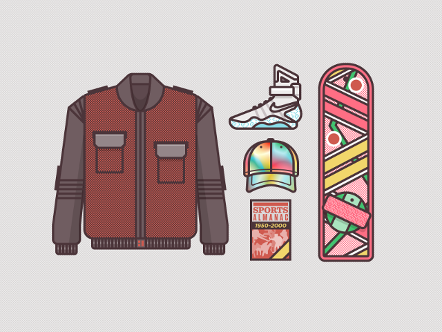 Illustrations of Iconic Television Show and Movie Character Costumes by Ryan Putnam