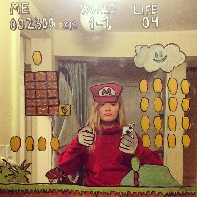 Artist Paints Scenes and Characters on a Bathroom Mirror That Place Her in All Sorts of Imaginative Situations