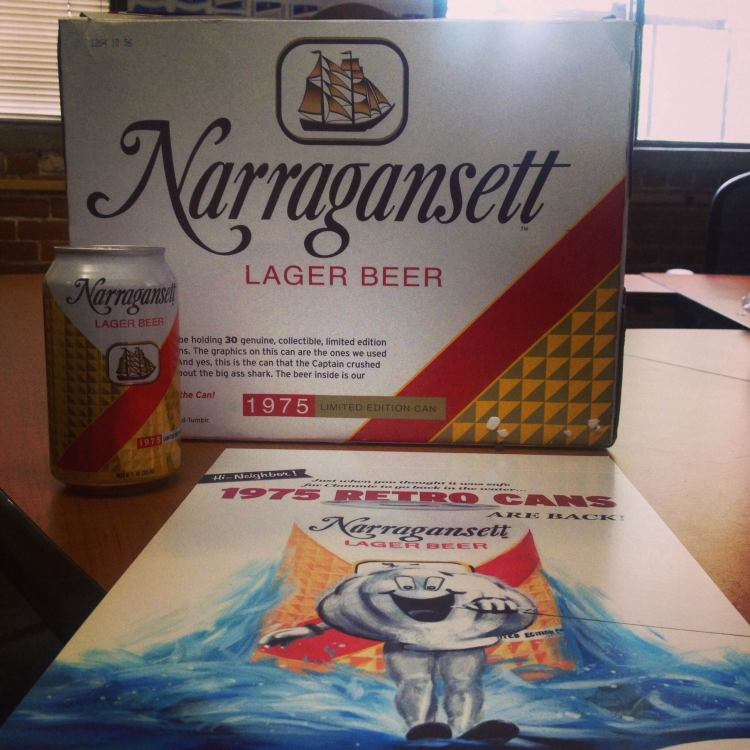Narragansett Beer Reissues 1975 Can Design That Appeared ... Crushed Beer Can