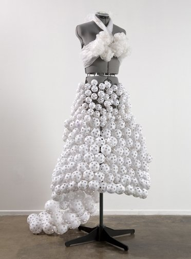 Dress Sculptures Made of Unusual Materials by Robin Barcus Slonina
