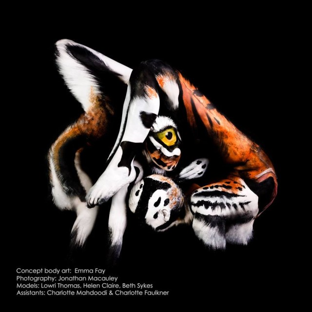 Marvels Of Nature A Series Of Animal Body Paintings Created On Contortionist Models