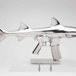 Wonderfully Surreal Metal Sculptures of Sharks Fused With Guns
