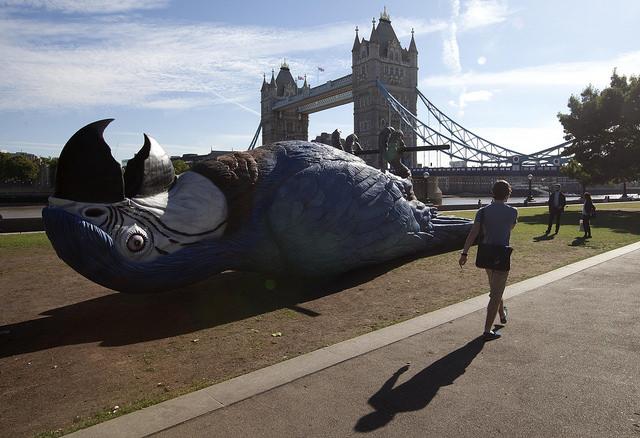 Monty Python Dead Parrot Sculpture in London