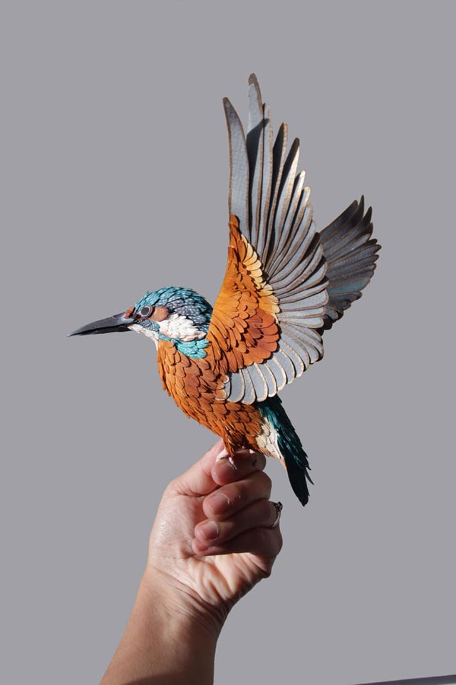 Bird Sculptures remarkably lifelike paper bird sculpturesdiana beltran herrera