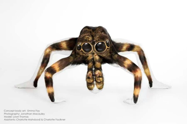 'Marvels of Nature', A Series of Animal Body Paintings Created on Contortionist Models