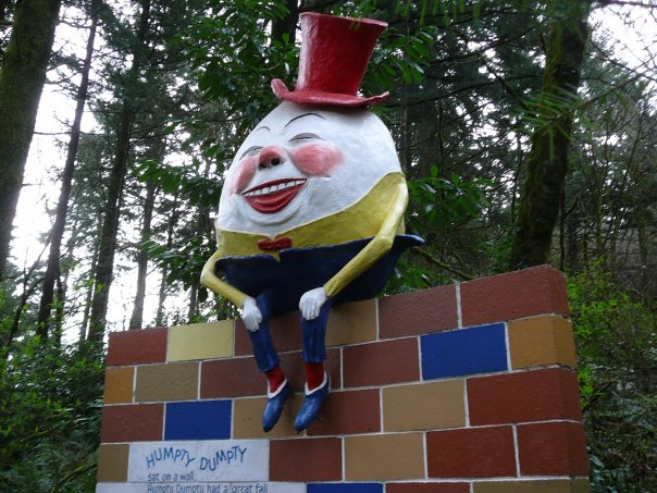 Actual Humpty Dumpty Has Actual Great Fall at Oregon Theme Park